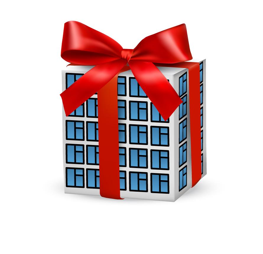 SEO Дом подарок выполнен в векторе